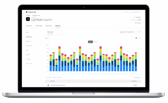dashboard-campan%cc%83a-campaign-search-ads-app-store-apple